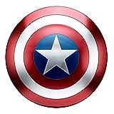 LIWENJU Targa in metallo, motivo: Capitan America, per Halloween, cosplay, costume, mausi di Avengers, decorazione da parete, 60 cm, 47 cm, 32 cm, diametro 47 cm