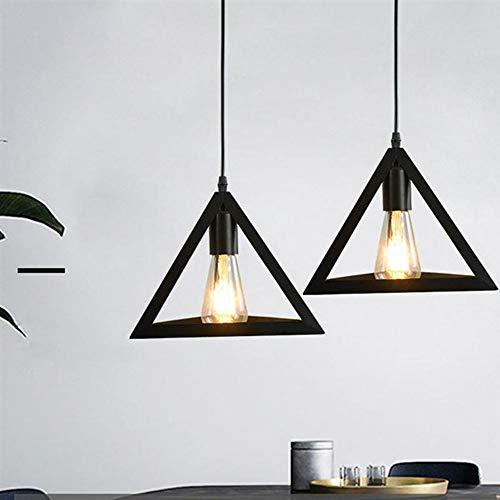 DAXGD Lampadario in ferro, Lampada a sospensione Vintage industriale, portalampada E27, Diametro 25 cm (Nero)