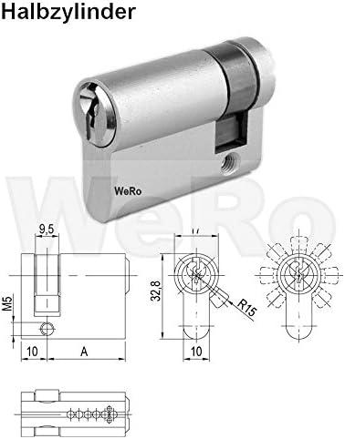 Schlie/ßzylinder f/ür gleichschlie/ßendes SET//L/ängen frei kombinierbar Knaufzylinder A:60mm B:45K