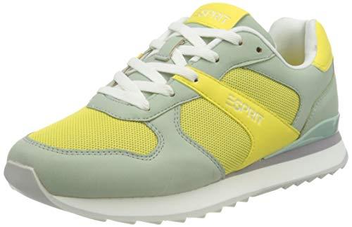 ESPRIT 021EK1W308, Zapatillas Mujer, 760 Lime Yellow, 38 EU