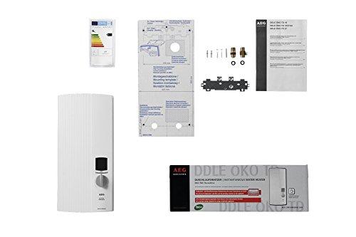 AEG vollelektronischer Durchlauferhitzer DDLE ÖKO TD, 27 kW, LCD, ECO-Funktion, Regendusche, 222399 - 5