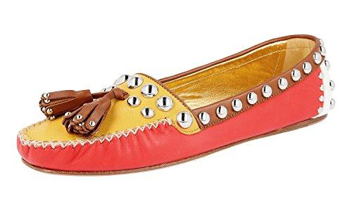 Prada Damen Mehrfarbig Leder Loafer 1D779E 39 EU