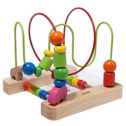 GG-kids toys Cadre en Perle en Bois pour Enfants enseigne d'éducation précoce Puzzle en Perle Ronde en Bois Jouet pour bébé 1-6 Ans 360 ° Play Fine Action