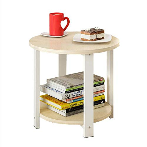 YNN Table Table d'extrémité de Table de canapé/Table de café/Snack/Stockage pour la Maison, Salon, Bureau 4 Couleurs 2 Tailles (Couleur : B, Taille : 50cm)