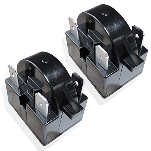 Reyhoar 2 Pcs QP2-4.7/ QP2-4R7 4.7 Ohm Refrigerator PTC Start/Starter Relay Replacement Part for Mini Fridges and Coolers (3 Pin)