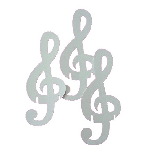 GS Cartotecnica 50 segnaposto in cartoncino a Forma di Chiave di Violino - Bianco -