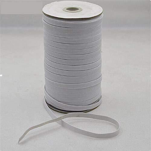 Deirdre Agnes 1 rol elastische intrekbare riem plat touw, gebruikt voor het naaien van kleding taille broek ondergoed |elastische riem 5 mm x 180 meter lang