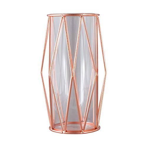 Le Sens Amazing Home 11 Inches Rose Gold Vases Large Glass Vase Centerpiece for Wedding Home Dcor