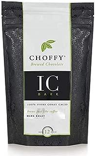Choffy, Ivory Coast Dark, Brewed Chocolate, Cocoa, Dark Roast, 12 oz.