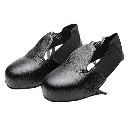 Healifty Cubrezapatos de seguridad de cuero antirotura con puntera de acero para visitas