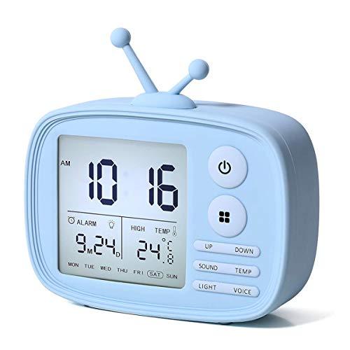 EKOHOME Despertadores Digitales para Nios TV Relojes de Alarma