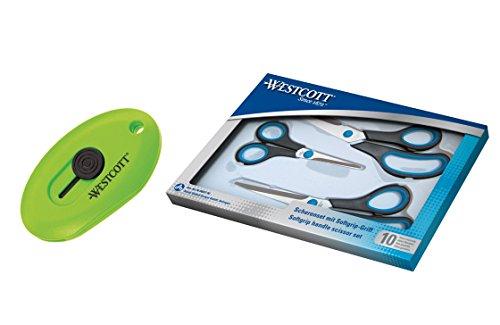 Westcott 90027-16474 Kombipack, Easy Grip Scheren Set und Keramik Mini-Cutter 4-teilig