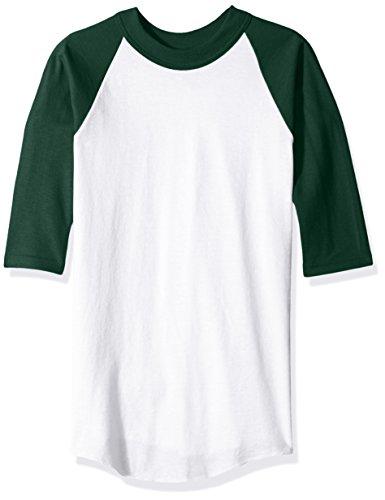 SOFFE Baseball-Trikot für Jungen, Weiß/Dunkelgrün, Größe S