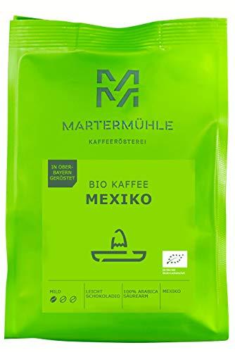 Martermühle I Bio Kaffee Mexiko I Kaffe ganze Bohnen I Bio-Kaffeebohnen I Premium Kaffeebohnen I Kaffeebohnen aus Mexiko I geröstete Kaffeebohnen I Kaffee säurearm I 100% Arabica I 1kg