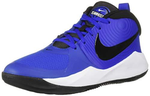 Nike Unisex-Kid's Team Hustle D 9 (GS) Sneaker, Game Royal/Black - White, 6.5Y Regular US Big Kid