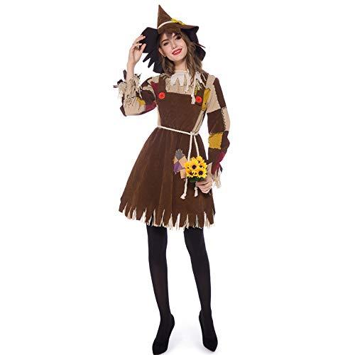 ZSTY Disfraz de Bruja, Mago de Oz, Adulto, Hombre de Hierba, Disfraz de Cosplay, Bruja Salvaje, Vestido de marioneta, Disfraz de Fiesta,S