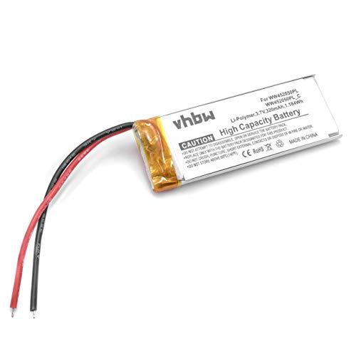 vhbw Batería de polímero de Litio 320mAh (3.7V) para Auriculares Cardo CQ1, Q3, Scala Rider Q3, FM, Solo como WW452050PL, WW452050PL_C.