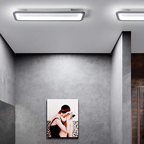 LED plafondpaneel Ailik, acryl plafondlamp rechthoekig PMMA hoge transparantie lampenkap plafondlamp creatieve plafondlamp verlichting plafondlamp van metaal in grijs