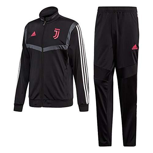 adidas Juventus PES Fußballanzug Herren, Schwarz/Dkgrey, XL
