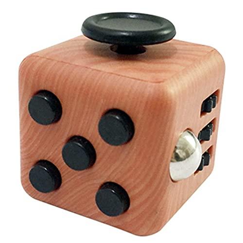 Fidget Toy Cube - Cubo Antiestres - Juego Desestresante Para Niños y Adultos - Alivia el Estrés y la Ansiedad - Fidget Toy Anti Estrés (Madera)