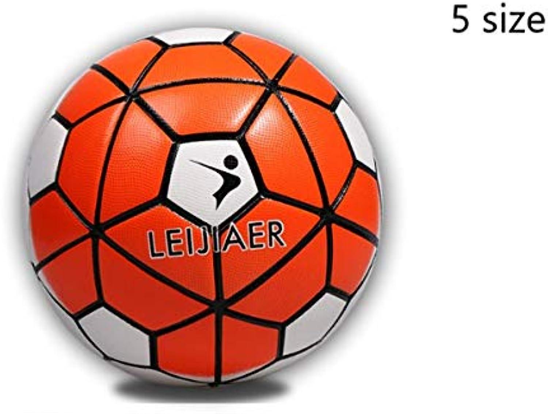 1pcs blueee orange red Three Styles TPU Material Football 5th Football School Game Ball Training Ball   orange