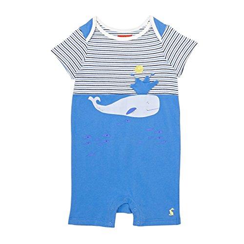 TOM JOULE baby jongens rompers korte mouwen blauwe walvis 3-D applicatie - maat: 86