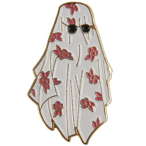 ACAMPTAR Arabische Blume Wei?e Robe Sonnenbrille Brosche M?nner Jungen Kleidung Jacke Rucksack Pin Abzeichen Cartoon