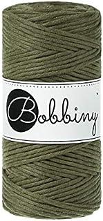 Bobbiny Oeko-Tex Premium Makramee Garn aus ökologischer Baumwolle in Avocado 3 mm x 100 m