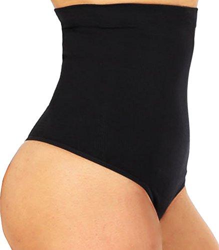High Waist Cincher Trainer Panties Body Shaper Underwear Tummy Control Thong Shapewear Girdles Slimmer Seamless (Black, XL/XXL)
