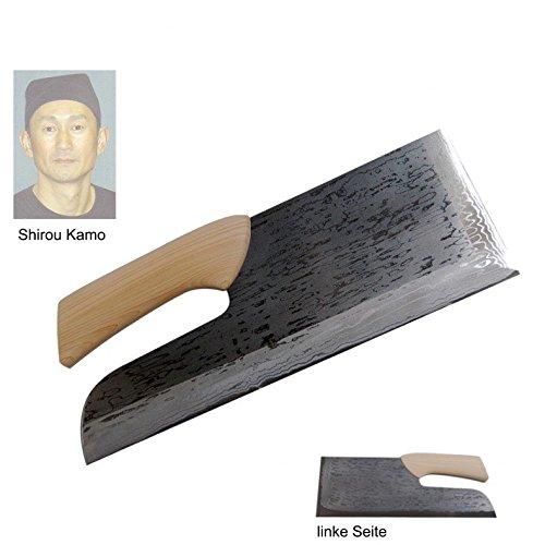 Shirou Kamo Soba kiri Nudelmesser 36 cm Damast TPG-1423 - Einzelstück