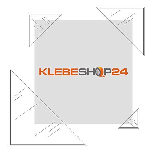 Klebeshop24 Lot de 20 pochettes triangulaires autocollantes - Coins adhésifs - Coins photo transparents - Format au choix - 20 ou 100 pièces - Coins à coller - 175 x 175 mm