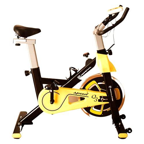 PERPETUAL Bicicleta Spinning Fitness Bici Estática Indoor Volante Inercia 10KG Resistencia Ajustable Monitor LCD Gimnasio Ejercicio y Entrenamiento Casa Hombre Mujer