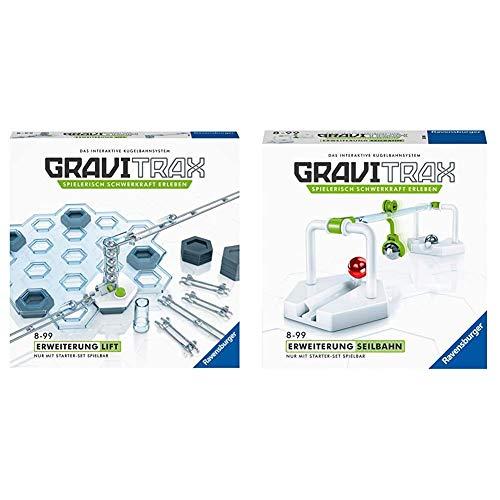 GraviTrax Ravensburger Erweiterung Lift - Ideales Zubehör für spektakuläre Kugelbahnen & Erweiterung Seilbahn - Ideales Zubehör für spektakuläre Kugelbahnen, Konstruktionsspielzeug für ab 8 Jahren