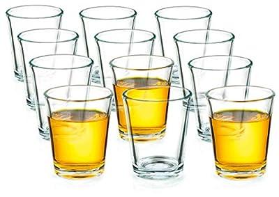 Round 1.7oz/50ml Shot Glass, Clear Glass, Set of 12