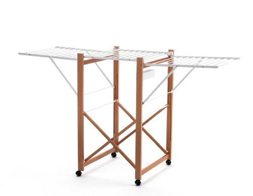 ARREDAMENTI ITALIA Wäscheständer AIRONE, Holz - Klappbar - Ausziehbar 21 mt Leine - Farbe: Kirsche Holz AR-It il Cuore del Legno