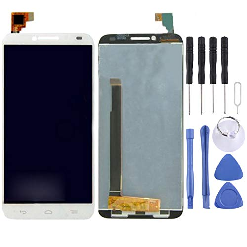 YANTAIAN Piezas de reparación de teléfonos celulares Pantalla LCD digitalizador de Pantalla táctil for Alcatel One Touch Idol 2/6037 (Color : Blanco)