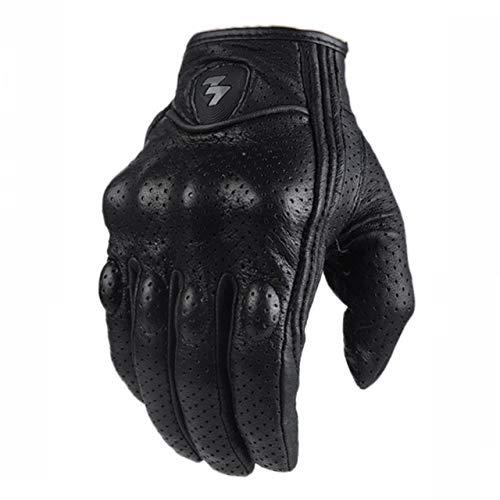 IAMZHL Motorradhandschuhe Motorradfahren Radfahren Retro Pursuit Perforiertes Leder Moto Protective Gears Motocross-Handschuh M