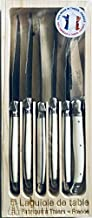 Jean Dubost Laguiole 6 Piece Steak Knife Set France Ivory White Handles