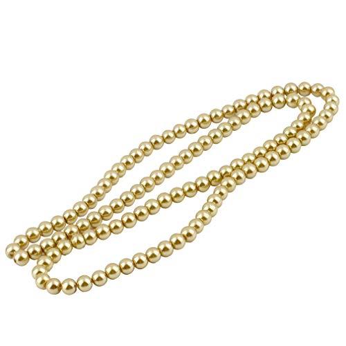 Nsdsb 4Mm / 6Mm / 8Mm Perlas Redondas Sueltas Colgantes DIY Manualidades Pulseras Marrón Claro 8Mm