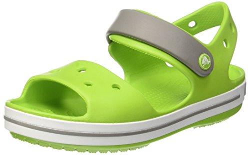 Crocs Crocband Sandal Kids, Sandalias Unisex Niños, Verde (Volt Green/Smoke), 25/26 EU