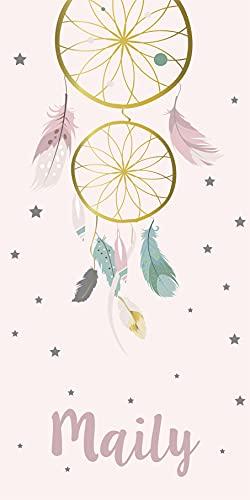 Deco&Fun - Alfombra Infantil Personalizable Stars 70x140cm - Alfombra Infantil Lavable- Alfombra PVC - Alfombras niño y niña - Alfombras habitación Infantil