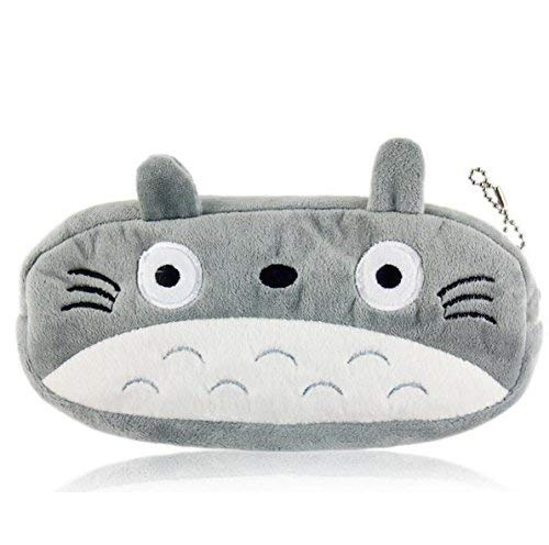 Kimkoala Cute Plush Pencil Bag Totoro Pencil Holder Pouch Cartoon Animal Toy Coin Purse Pen Bag