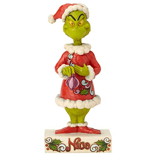 ENESCO Dr. Seuss The Grinch by Jim Shore Two-Sided Naughty and Nice Figur, Mehrfarbig, 8.98'
