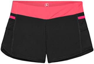 90° DEGREE BY REFLEX Girls Active Shorts (4, Flashmode/Black)