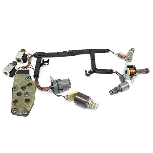 Transmission Solenoid Kit, 7 Piece 4L60E Automatic Transmission Master Solenoid Set Shift Downshift PWM EPC TCC Solenoid with Harness
