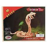 ZRW Madera de serpiente 3d rompecabezas de juguete