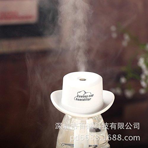 De luchtbevochtiger, cowboy, hoed, luchtbevochtiger, mini-vernevelaar, home creatieve spoellucht, wit
