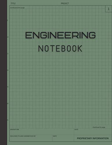 Engineering Notebook: 120 Pages Grid Format, Math Space Science...