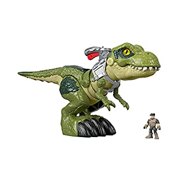 Fisher-Price Imaginext Jurassic World Mega Mouth T-Rex Chomping Toy Dinosaur for Preschool Kids Ages 3-8 Years