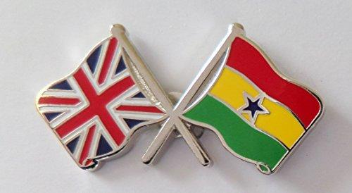 1000 drapeaux du Ghana et drapeau du Royaume-Uni
